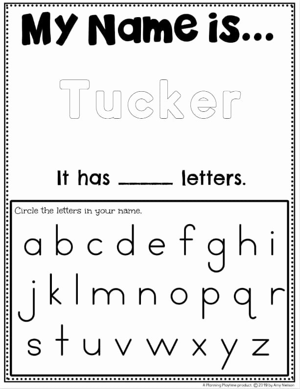 Printable Worksheets for Preschoolers to Write their Name Fresh Name Tracing Worksheets Planning Playtime