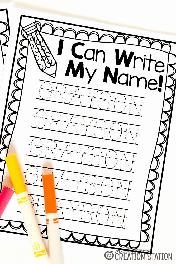 Printable Worksheets for Preschoolers to Write their Name Fresh Name Writing Practice Handwriting Freebie Mrs Jones