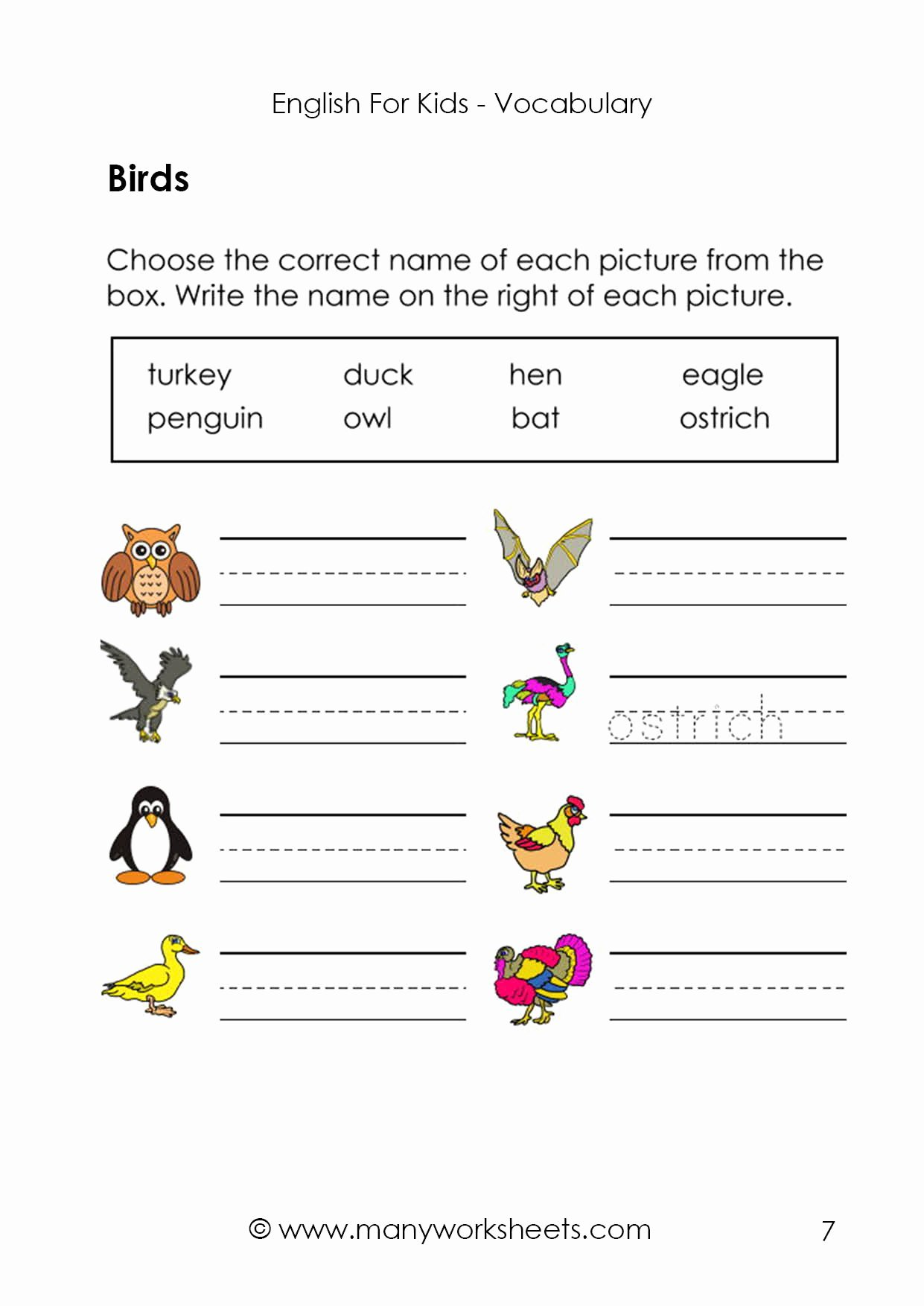 Printable Worksheets for Preschoolers to Write their Name top English Worksheets – Finding and Writing the Picture Names
