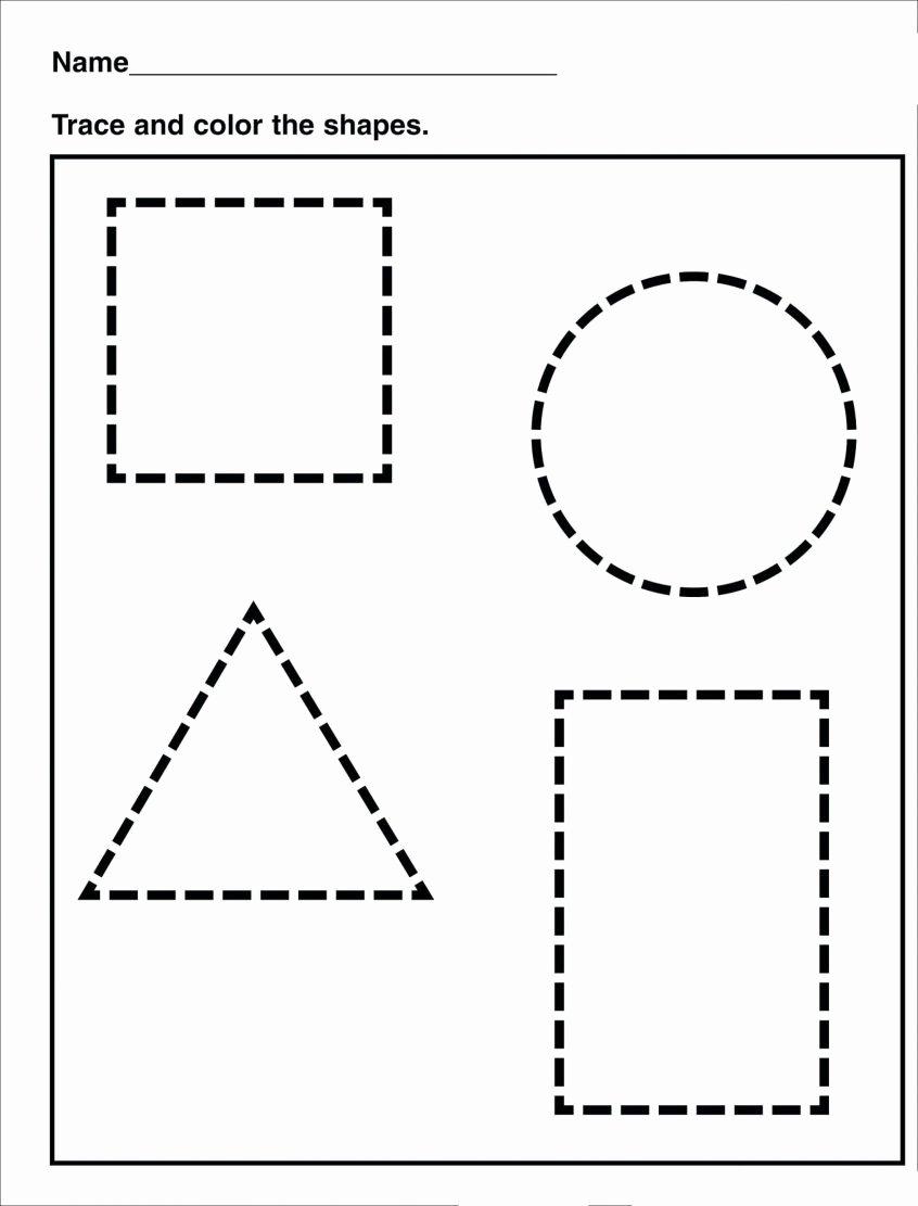 Printable Worksheets for Preschoolers Unique Worksheets Preschool Shapes Worksheets and Printables
