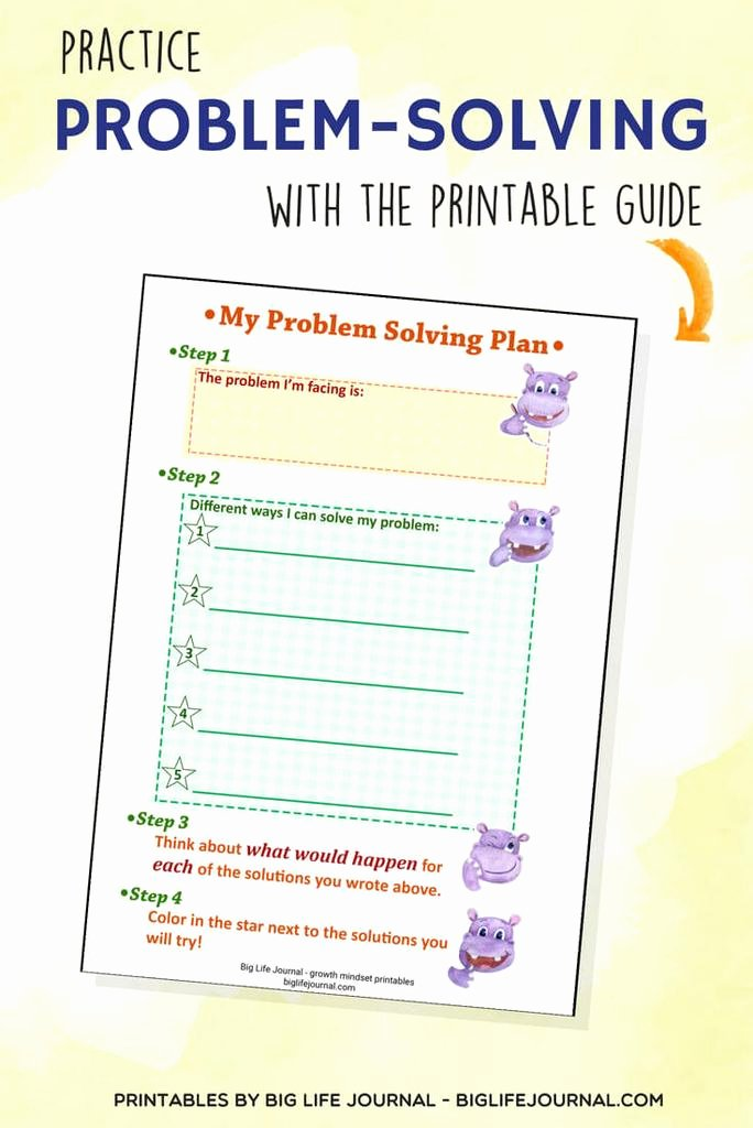 Problem solving Worksheets for Preschoolers Lovely to Teach Problem solving Kids Ages Big Life Journal Skills