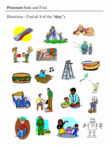 Pronoun Worksheets for Preschoolers Awesome Pronouns