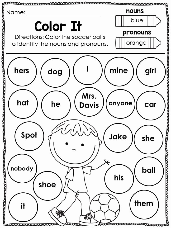 Pronoun Worksheets for Preschoolers Beautiful Pronoun Worksheets and Activities Unit at the Park with
