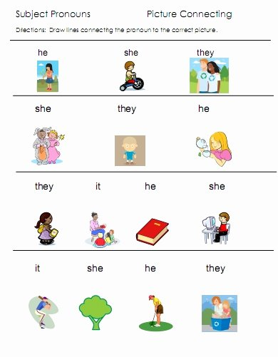 Pronoun Worksheets for Preschoolers Best Of Pronouns