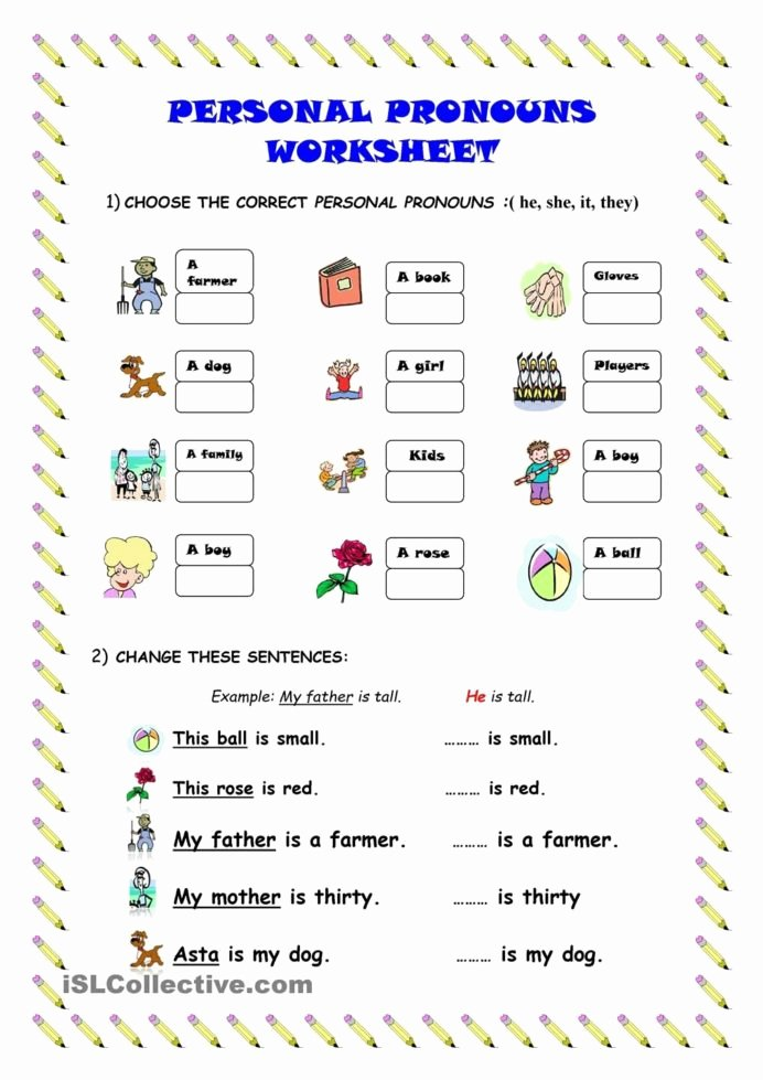 Pronoun Worksheets for Preschoolers Lovely Personal Pronouns Worksheet Worksheets Learning Function