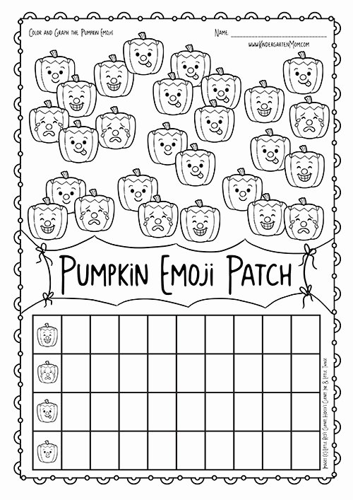 Pumpkin Math Worksheets for Preschoolers Beautiful Pumpkin Patch Emoji Math Kindergarten Mom