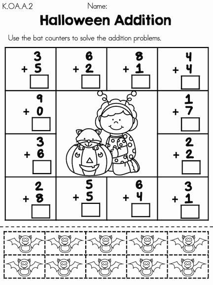 Pumpkin Math Worksheets for Preschoolers Inspirational Halloween Math Worksheets Kindergarten