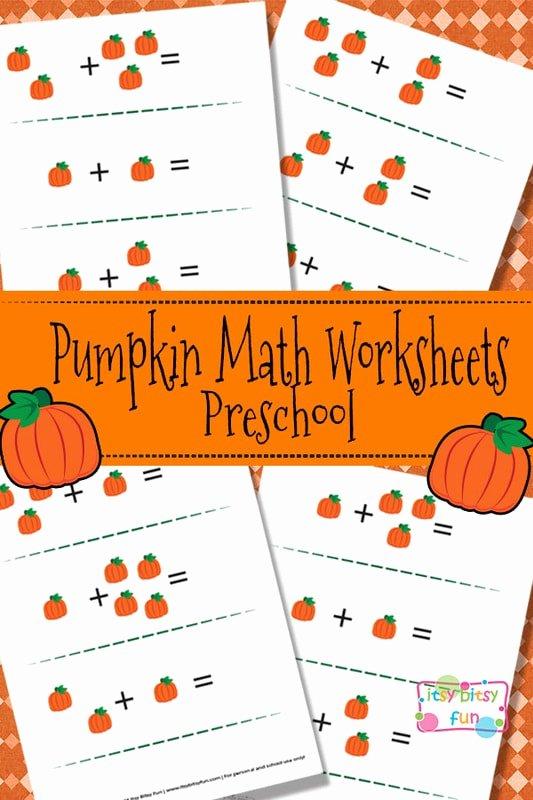 Pumpkin Math Worksheets for Preschoolers Inspirational Pumpkin Math Worksheets for Preschool Itsybitsyfun