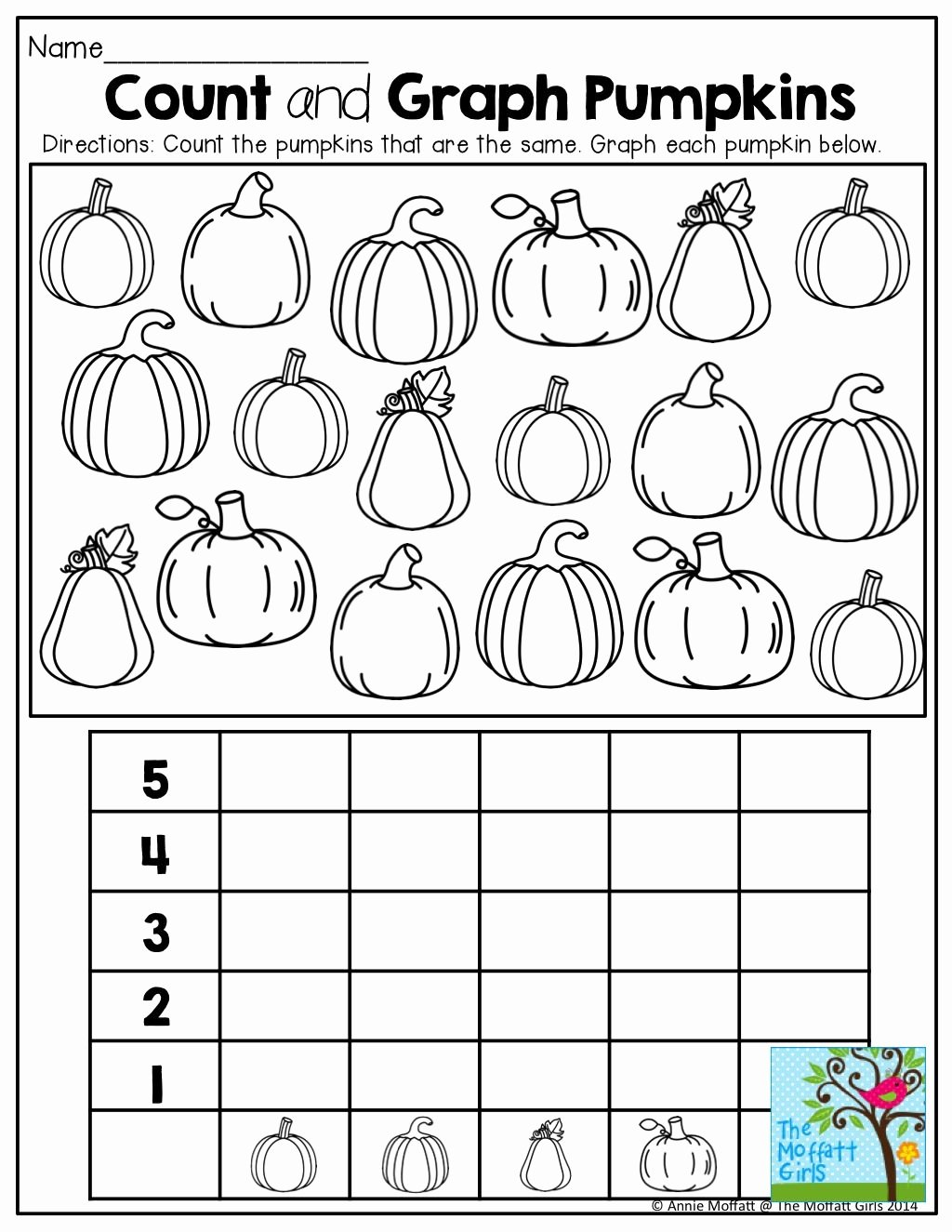 Pumpkin Math Worksheets for Preschoolers New Graphing Pumpkins and tons Of Other Fun Printables