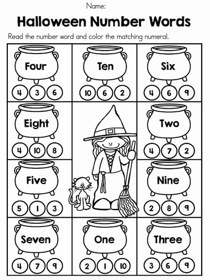 Pumpkin Math Worksheets for Preschoolers New Halloween Math Worksheets Kindergarten