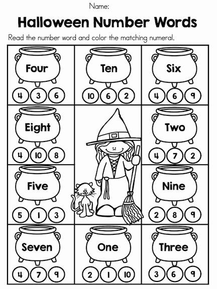Pumpkin Math Worksheets for Preschoolers New Halloween Math Worksheets Kindergarten