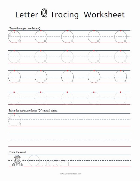 Q Worksheets for Preschoolers Beautiful Coloring Pages Splendi Letter Tracing Worksheets Printable