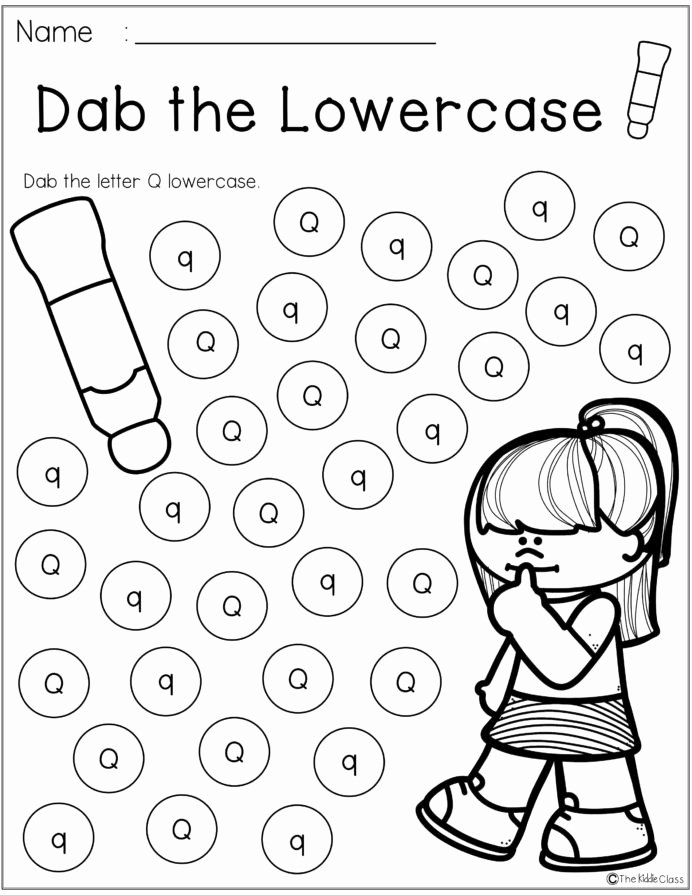 Q Worksheets for Preschoolers Unique Letter Q Worksheets for Preschool Worksheets Medium Algebra