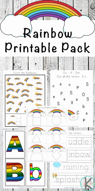Rainbow Worksheets for Preschoolers Awesome Free Rainbow Worksheets for Kids