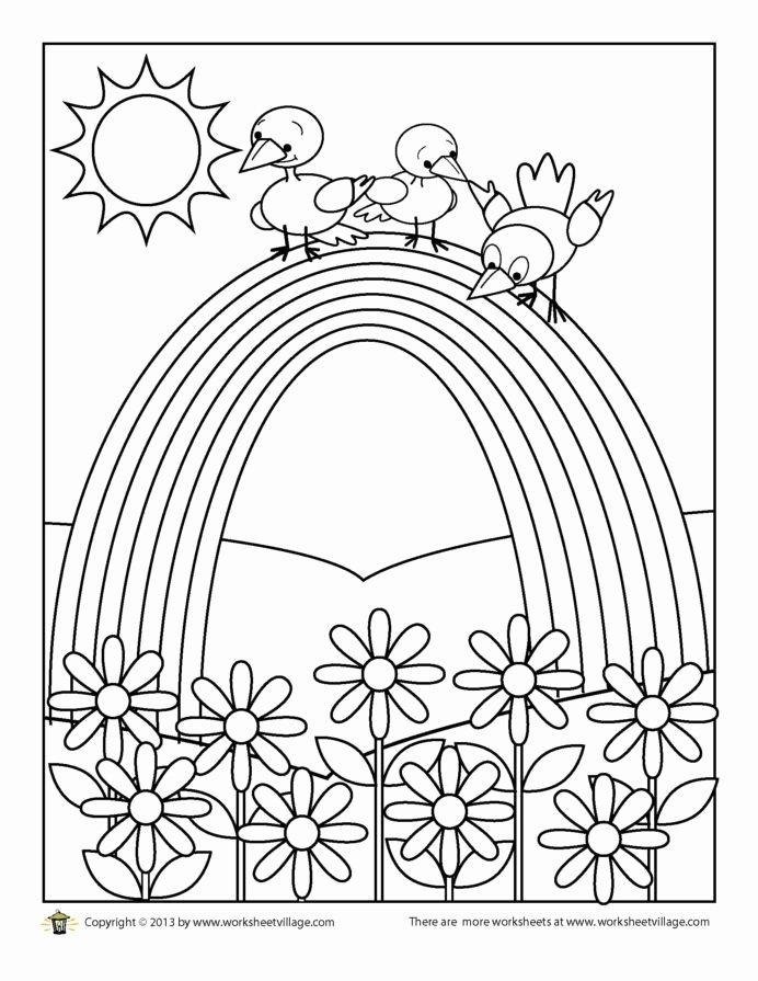 Rainbow Worksheets for Preschoolers Best Of Coloring Birds Rainbow Worksheet Village Fun Nutrition