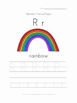 Rainbow Worksheets for Preschoolers Lovely Letter R is for Rainbow Worksheet