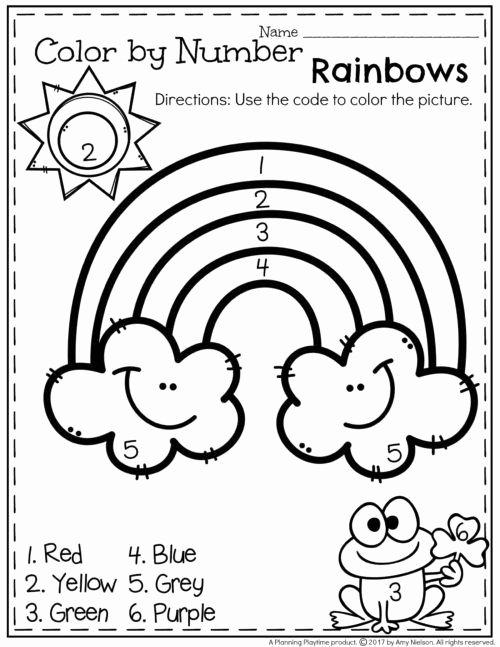 Rainbow Worksheets for Preschoolers New March Preschool Worksheets Planning Playtime