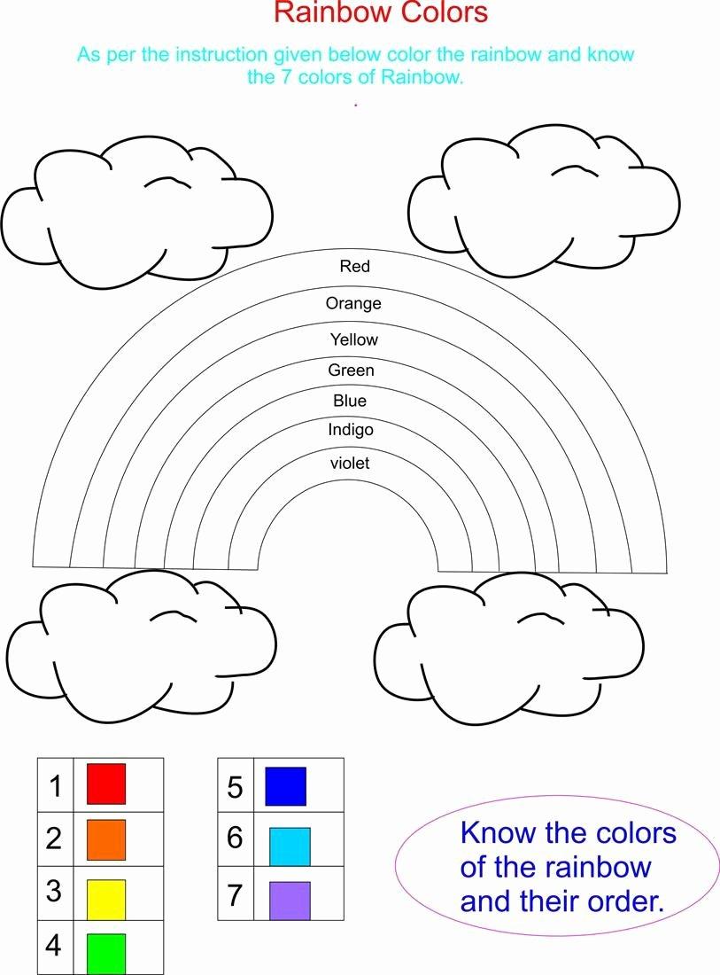 Rainbow Worksheets for Preschoolers top Rainbow Has 7 Beautifull Colors