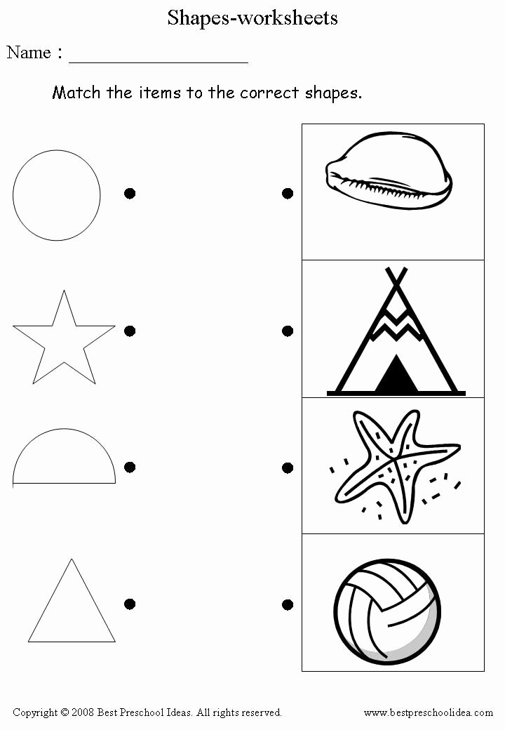 Readiness Worksheets for Preschoolers Inspirational Shapes