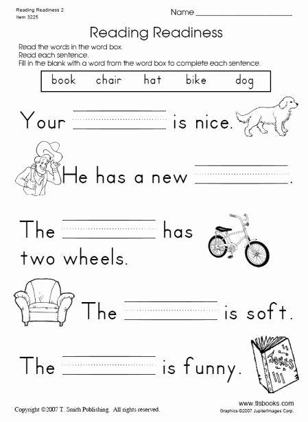 Readiness Worksheets for Preschoolers top Snapshot Image Of Reading Readiness Worksheet 2