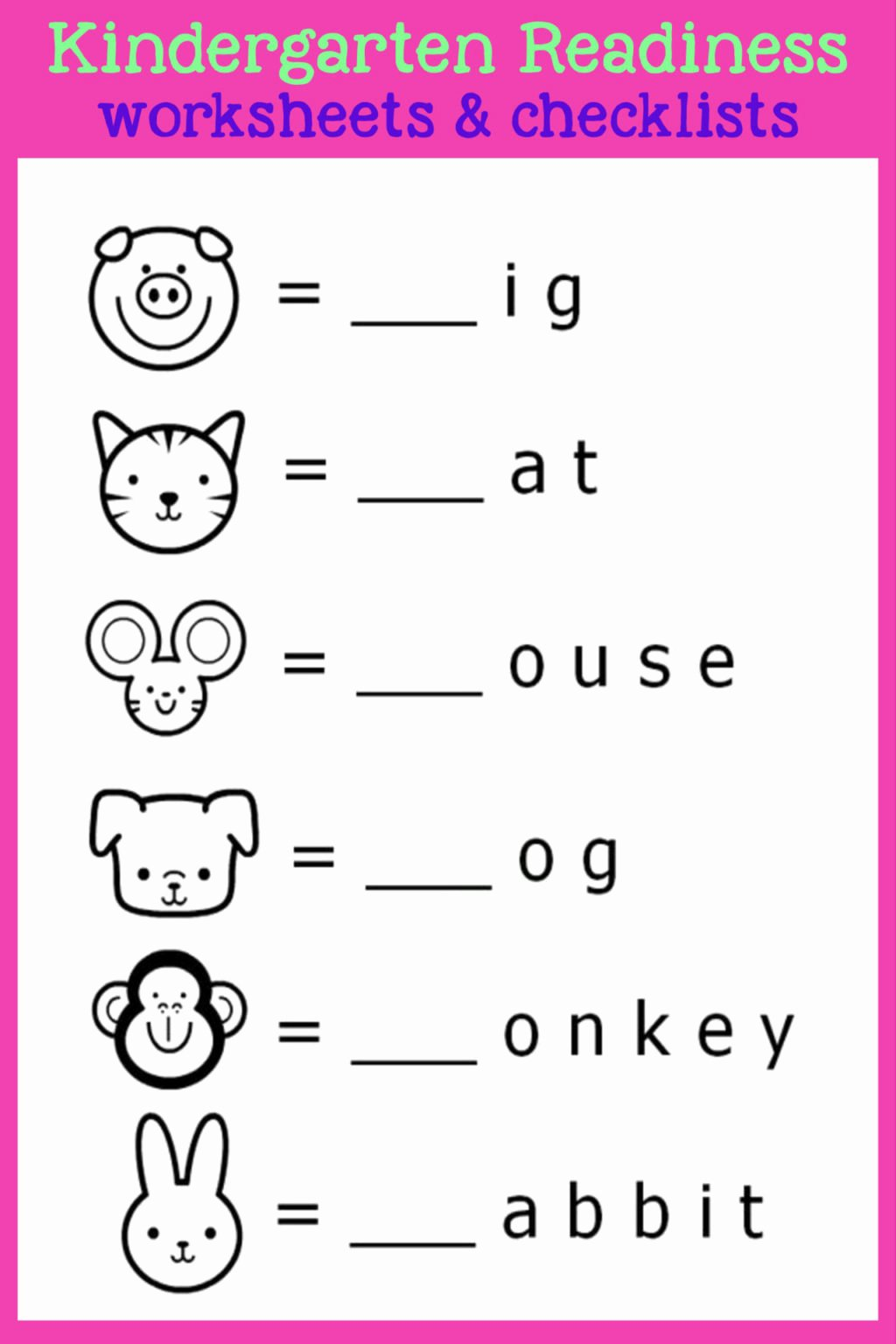 Readiness Worksheets for Preschoolers top Worksheet Kindergarten Readiness Checklists Free Printable