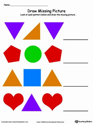 Recognizing Colors Worksheets for Preschoolers Beautiful Kindergarten Patterns Printable Worksheets
