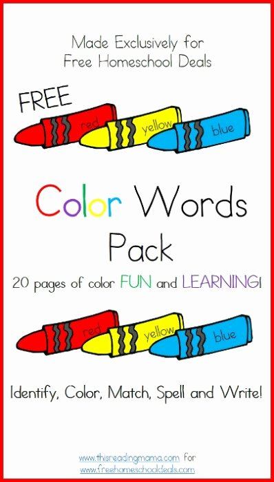 Recognizing Colors Worksheets for Preschoolers Best Of Free Download Color Words Printable Worksheets Pack 20 Pages