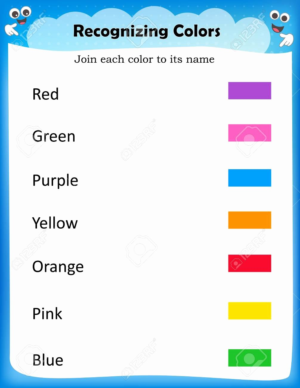 Recognizing Colors Worksheets for Preschoolers Best Of Kids Worksheet for Recognize Colors