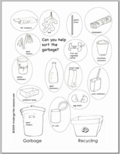 Recycling Worksheets for Preschoolers Fresh Recycling Worksheets for Kids