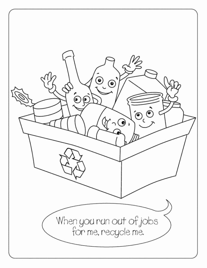 Recycling Worksheets for Preschoolers Lovely Recycling Coloring for Kids Free Printable Problem solver