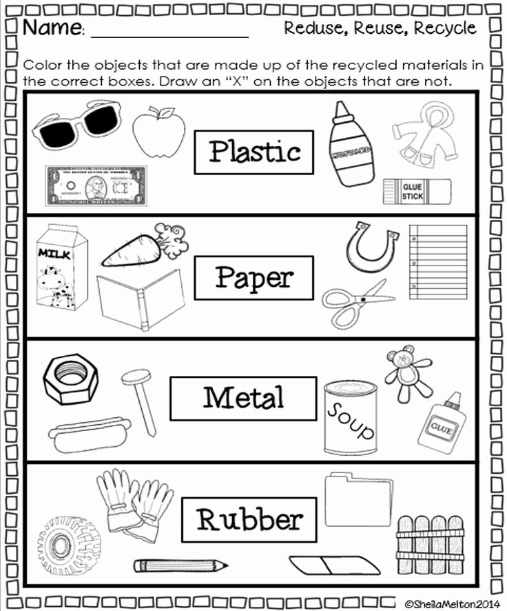 Recycling Worksheets for Preschoolers top Reduce Reuse Recycle