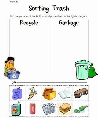 Recycling Worksheets for Preschoolers Unique Pin by Keepcarrollbeautiful On Preschool Printables