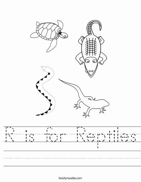 Reptile Worksheets for Preschoolers Fresh R is for Reptiles Worksheet