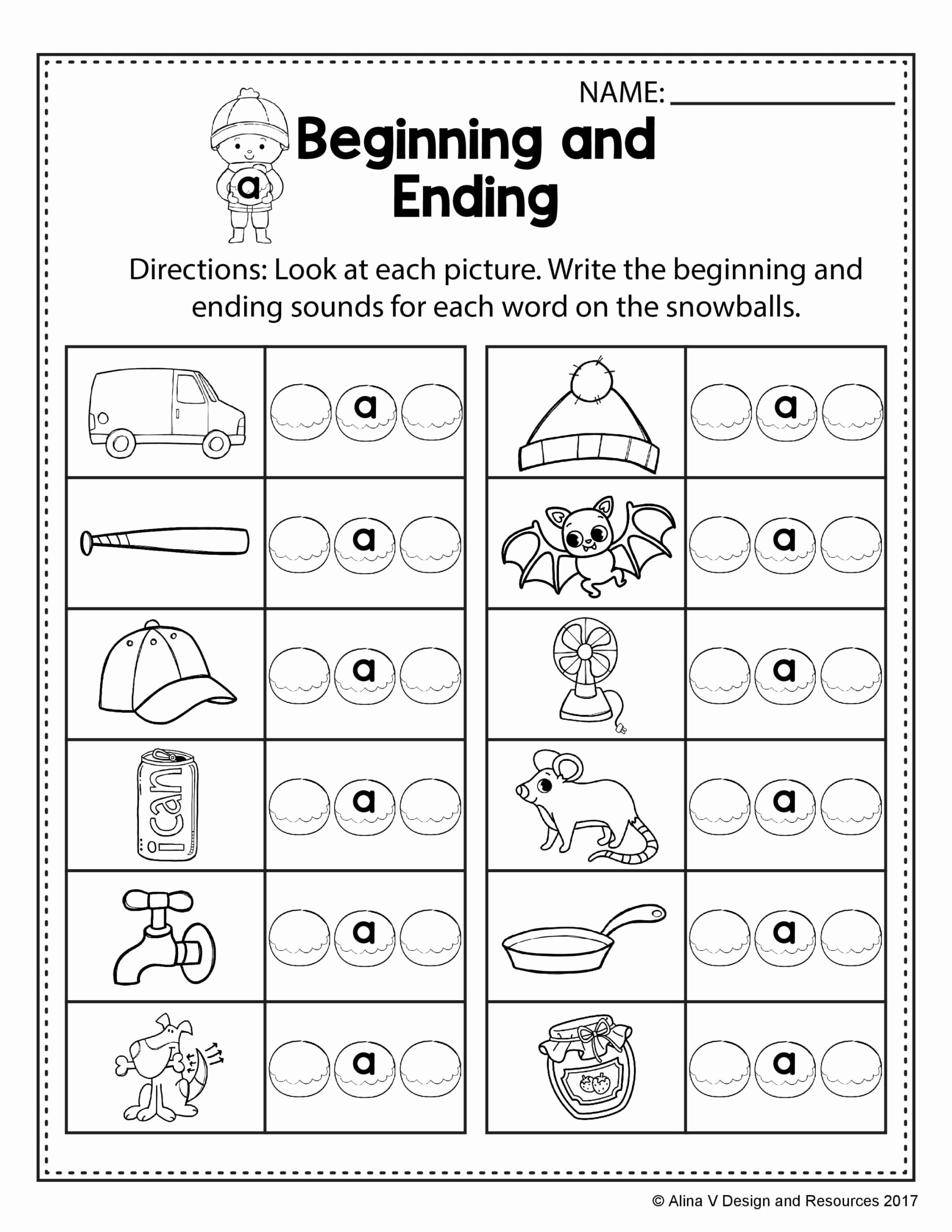 Rhyming Words Worksheets for Preschoolers New Free Winter Literacy Worksheet for Kindergarten No Prep