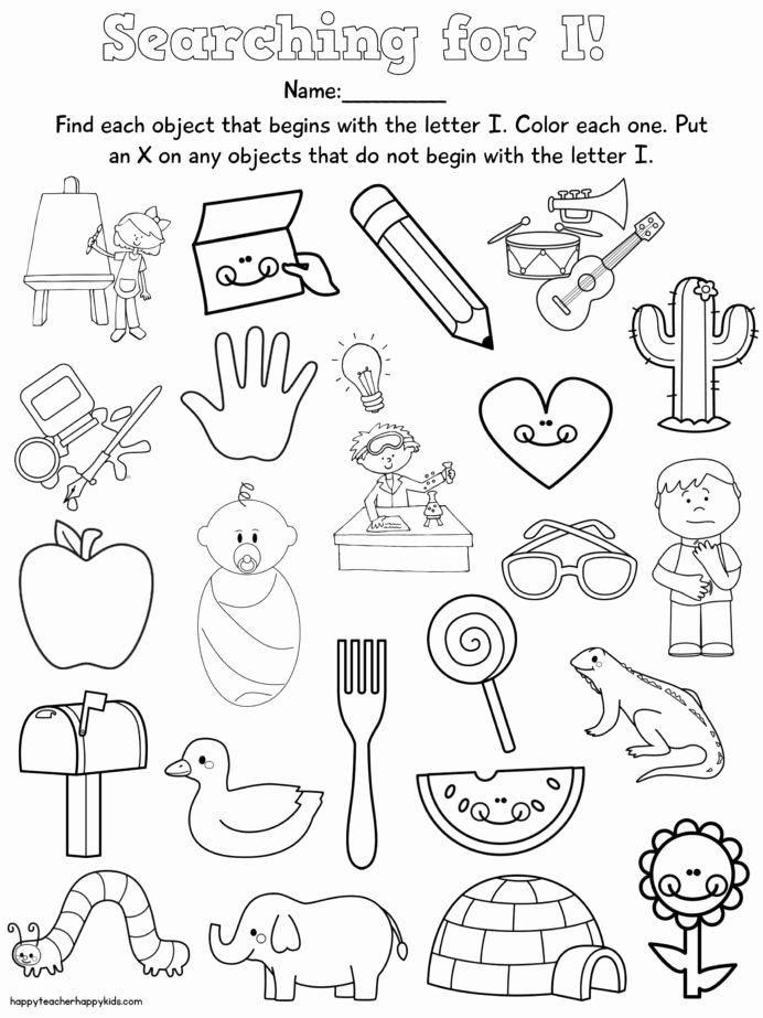 Rhyming Worksheets for Preschoolers Best Of Letter Free Preschool Learning Letters Nursery Rhymes