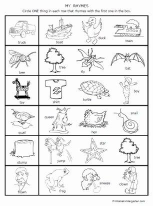 Rhyming Worksheets for Preschoolers New Free First Grade Rhyming Worksheet