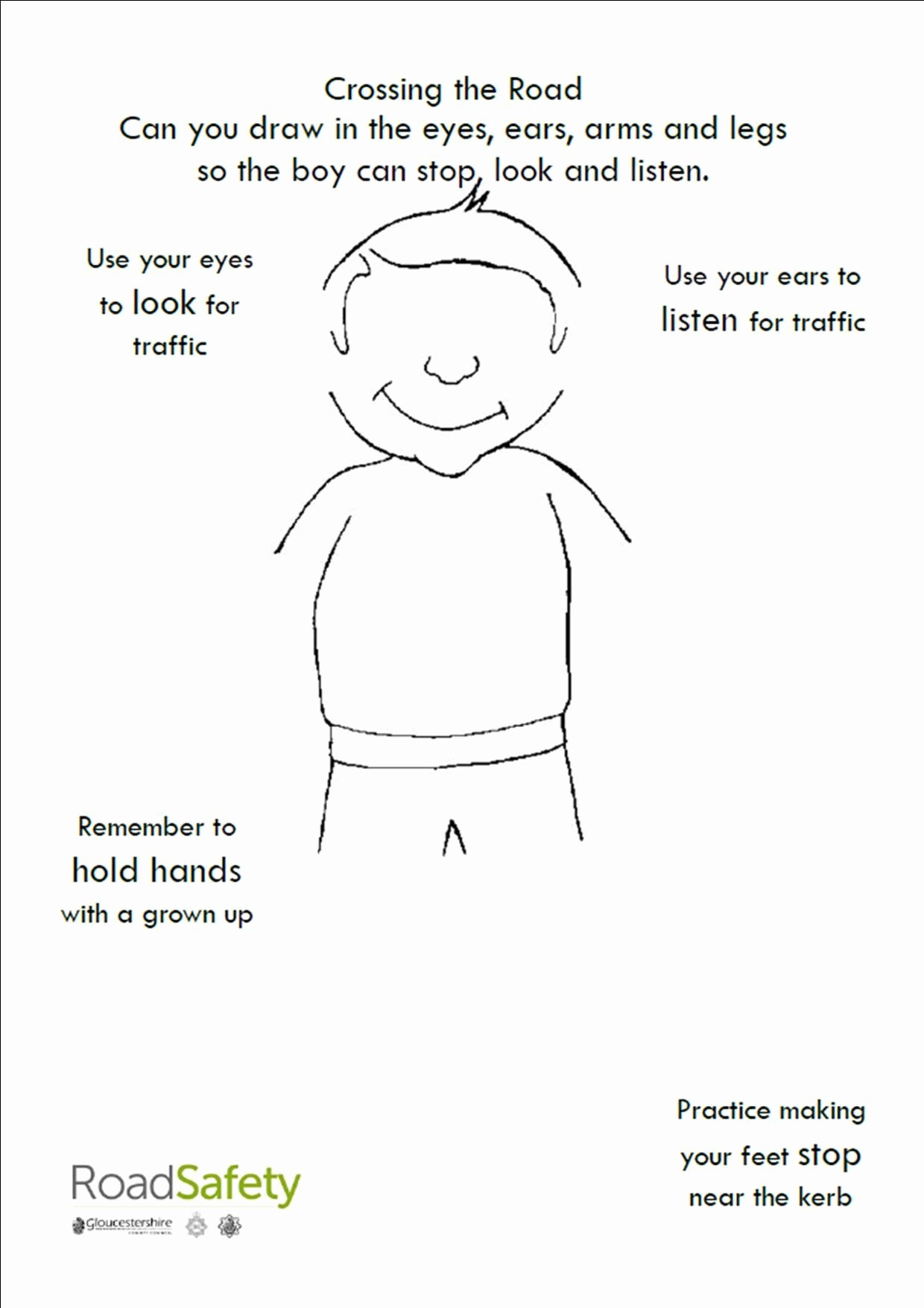 Road Safety Worksheets for Preschoolers Inspirational Crossing the Street