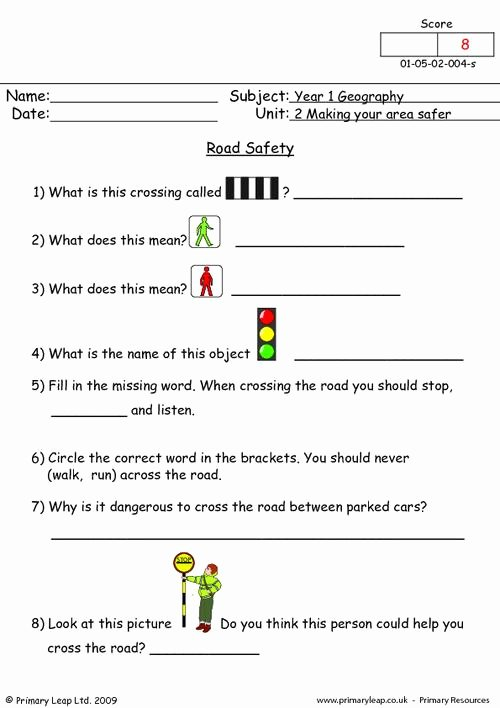 Road Safety Worksheets for Preschoolers New Geography Road Safety Worksheet