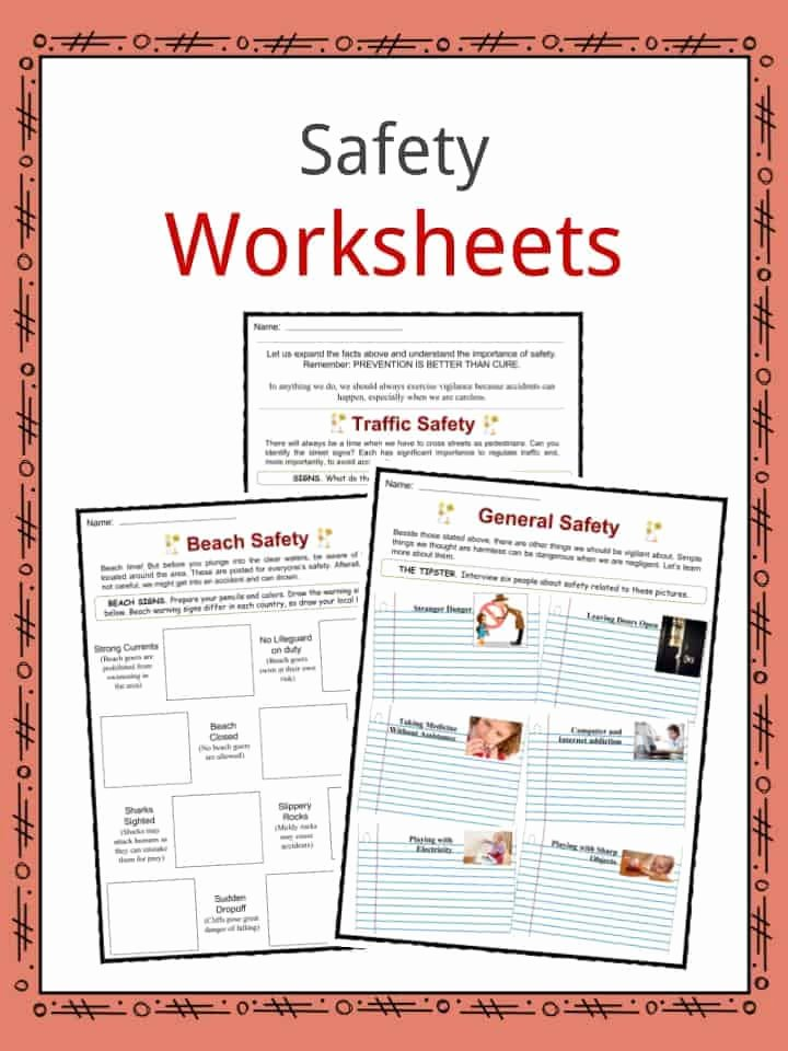 Safety Worksheets for Preschoolers Awesome Safety Facts Worksheets & General Advice and Information