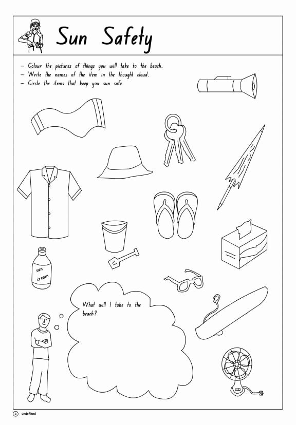 Safety Worksheets for Preschoolers Unique Pin On Teacher Resources