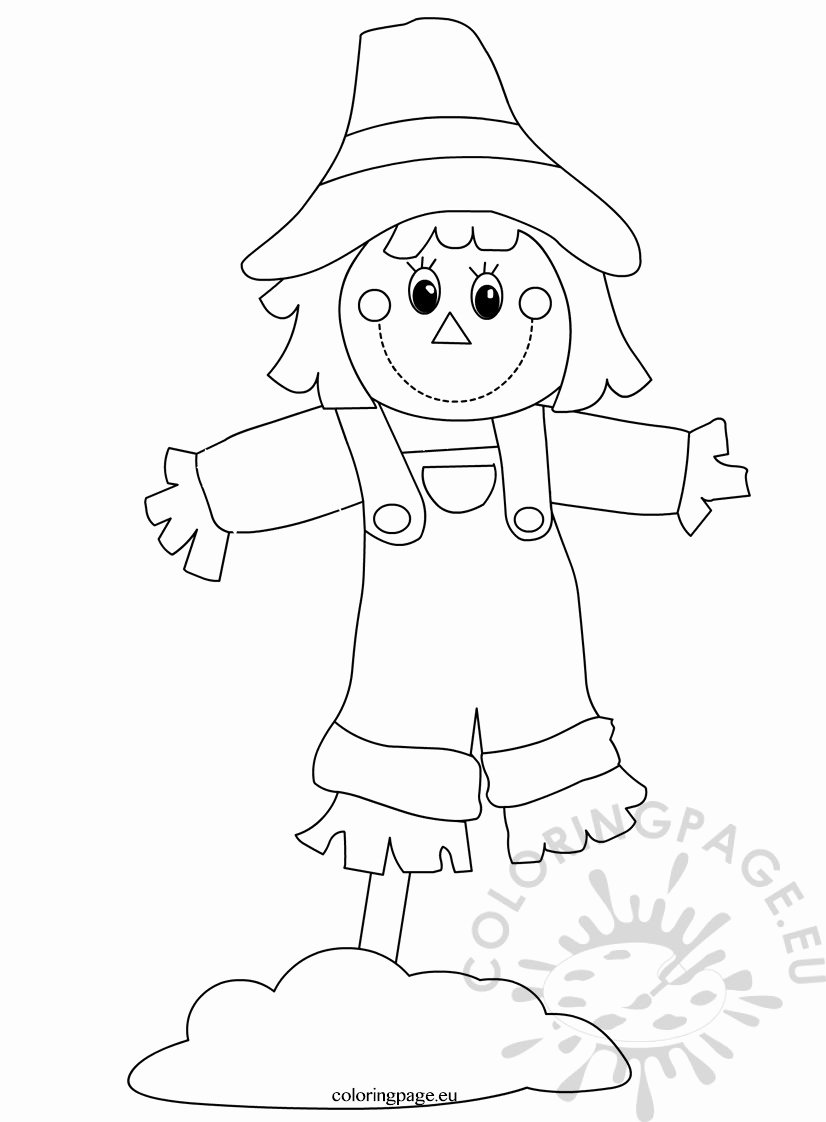 Scarecrow Worksheets for Preschoolers Awesome Preschool Seasons Worksheets Scarecrow – Coloring Page
