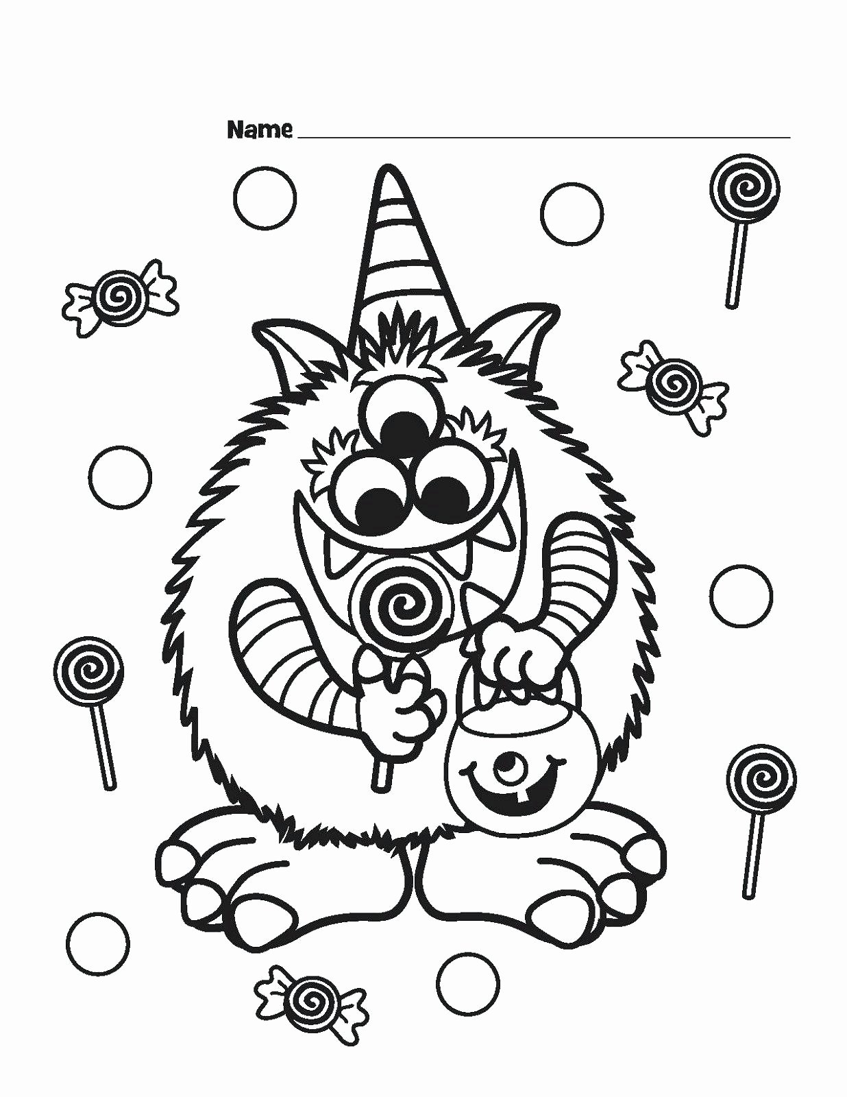 Scarecrow Worksheets for Preschoolers Best Of Coloring for Kids Incredible Halloween Free Math Worksheets