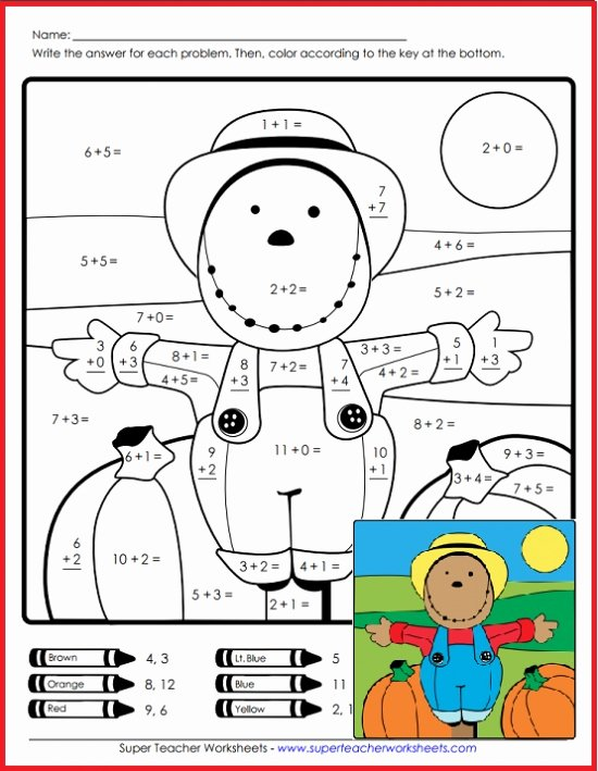 Scarecrow Worksheets for Preschoolers Best Of Scarecrow Math Super Teacher Worksheets Equation Website