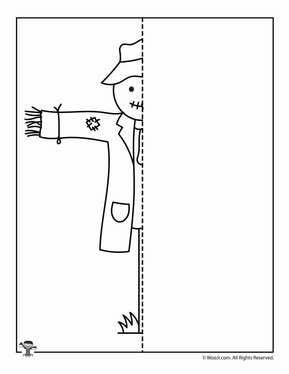 Scarecrow Worksheets for Preschoolers Lovely Fall Scarecrow Finish the Drawing Worksheet