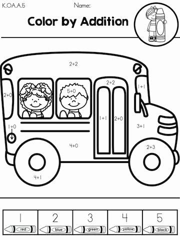School Bus Worksheets for Preschoolers Beautiful Back to School Math Worksheets Kindergarten