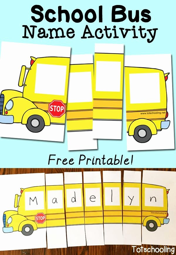 School Bus Worksheets for Preschoolers Beautiful School Bus Picture Puzzle Worksheets