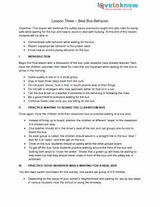 School Bus Worksheets for Preschoolers Best Of Bus Safety Lesson Plans for Preschool