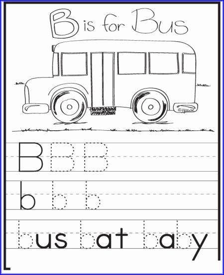 School Bus Worksheets for Preschoolers Fresh B is for Bus Worksheet Kindergarten