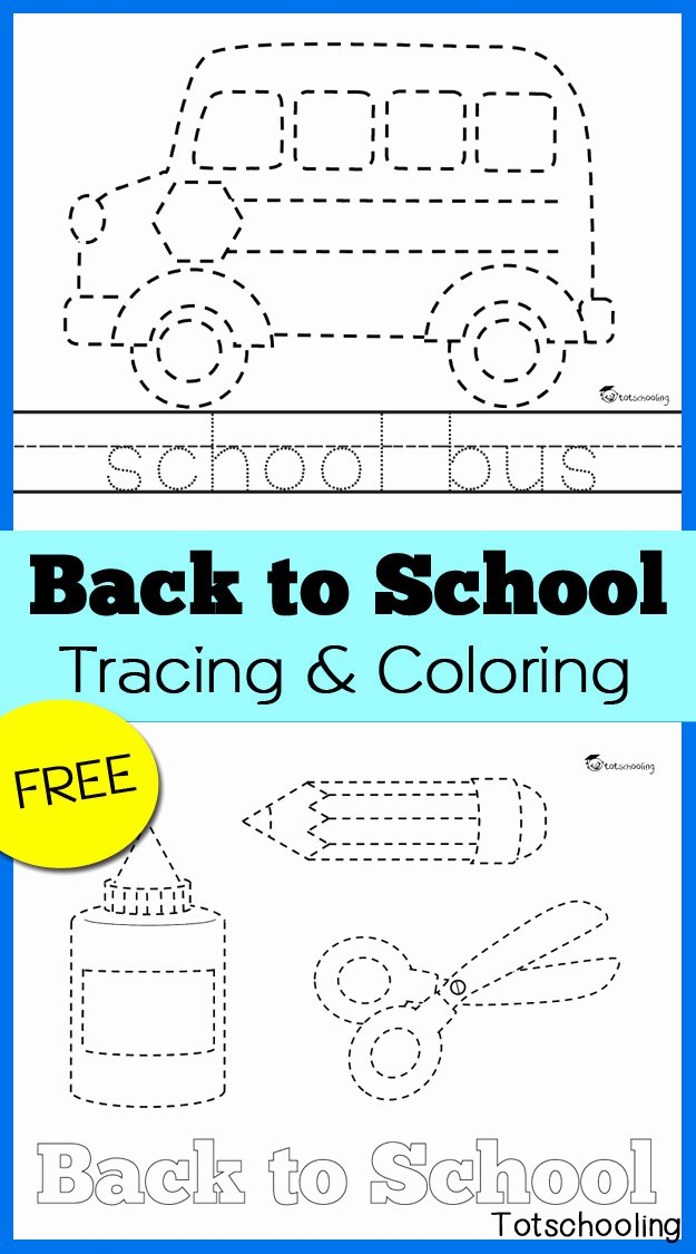 School Bus Worksheets for Preschoolers Inspirational Back to School Tracing & Coloring Pages
