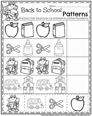 School Worksheets for Preschoolers Lovely Back to School Worksheets Preschool